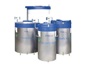Cryotherm Biosafe cryo-preservation vessels sold by CTM Europe biobank SiVL