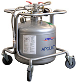 Cryotherm Apollo 50 nitrogen dewar sold by CTM Europe cryogenic fluid
